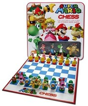 Super Mario Chess Set Hand Crafted Pieces Game Gift - $74.57