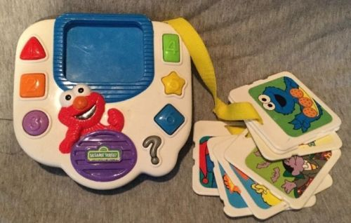 Primary image for RARE Sesame Street Learning Toy/Tyco 1999 Vintage -Colors ,Shapes,numbers,Cards