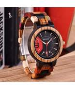 BOBO BIRD Colorful Wooden Watch Date Display Quartz - $48.95