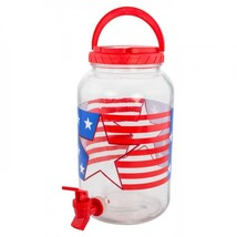 1 Gallon Patriotic Beverage Dispenser - $25.32