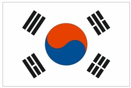 South Korea Vinyl State Flag Decal Sticker Made In The Usa F473 - $1.45+