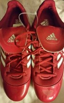 Adidas Men's Excelsior 5 Low Red Baseball Metal Cleats Size 16 NEW - $15.58