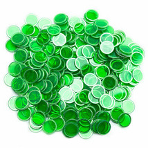 300 Pack Green Magnetic Bingo Chips - $19.19