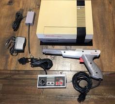 Original NES Console New 72 Pin Connector 1 Controller Zapper Gun & Cables - $74.44