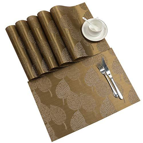SHACOS Placemats Heat Resistant Placemats for Dining Tables Woven Vinyl Dinner T