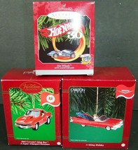 Carlton Cards Hallmark Cars Ornaments Lot of 3 Corvette Hot Wheels Ski H... - $34.64
