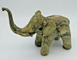 Vintage Elephant Folk Art Figurine Handcrafted - $11.00