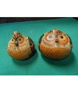 Great Folk Art TWO GOARDS Handpainted OWL Design........   FREE POSTAGE USA - $39.19