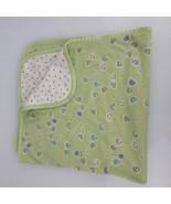 Carters Emu Namae Frog Rain Drop Raindrop Green White Baby Blanket Cotton - $79.19