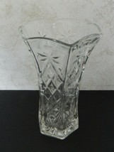 Anchor Hocking Star of David Pattern 8 1/2-inch Glass Crystal Vase EAPC ... - $14.80