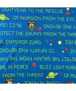 Vintage 1990s Disney Toy Story Movie Buzz Lightyear Emperor Zurg Fabric ... - $23.05
