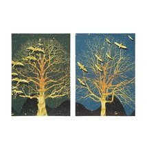 2Pcs Modern Tree Canvas Print Paintings Wall Art Unframed Picture Home D... - $28.99