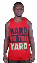 Yea Nice Rigide dans Le Yard Rouge Marine Vert Herbe Feuilles Débardeur Muscle