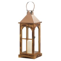 Decorative Lantern Candle, Outdoor Large Rose Gold Holder Tabletop Candl... - $49.49