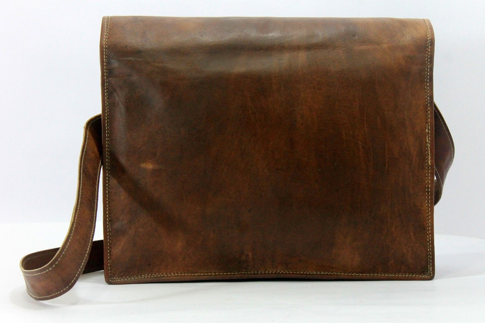 Men's Casual Business Genuine Leather Messenger Shoulder Briefcase Bag Brown