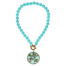 Heidi Daus Color Change Blue Pink Swap Dragonfly Crystal beaded necklace - $163.35