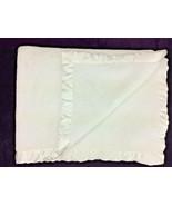 Simply Shabby Chic Baby Blanket Solid White Satin Trim Crib Thick Soft - $193.49