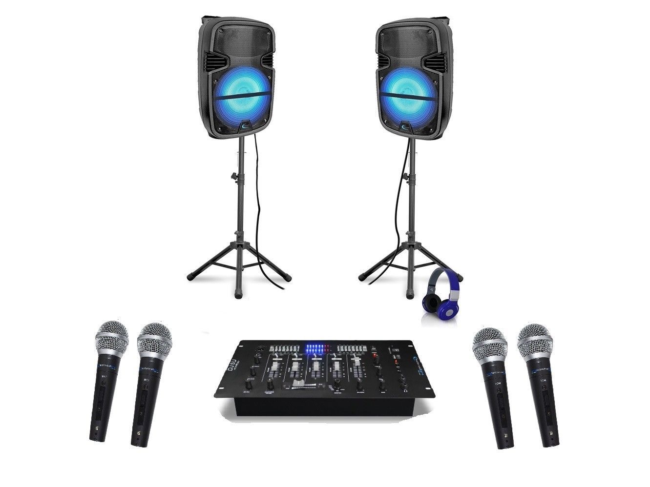 """Technical Pro  12"""" DJ-PACK4 PORTABLE Package, Phono inouts"""