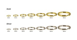 Lead Free Jewelry Finding Open Jump Double Split Rings Gold/Silver Multi... - $6.49