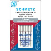 Schmetz Chrome Embroidery Machine Needles Size 90/14 5/Pkg - $7.13