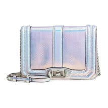 Rebecca Minkoff Opal Iridescent Leather Small Love Crossbody Bag NWT - $159.47