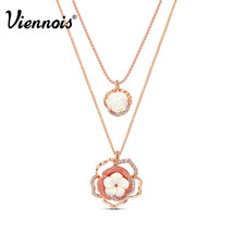 Pendant Necklace Multi Layer Rhinestone Collar Drop Necklace - $14.50