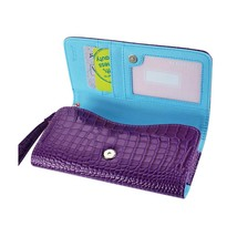 Alligator Purple Wallet Credit Card Case fits LG Tribute Dynasty (Sprint) - $19.79