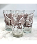 Currier & Ives 'American Homestead Winter' Set of 4 Tall Glasses Approx ... - $38.55