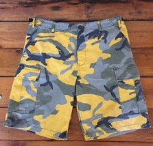 Rothco Ultra Force BDU Yellow Green Camo Cotton Cargo Short Medium Regul... - $31.99