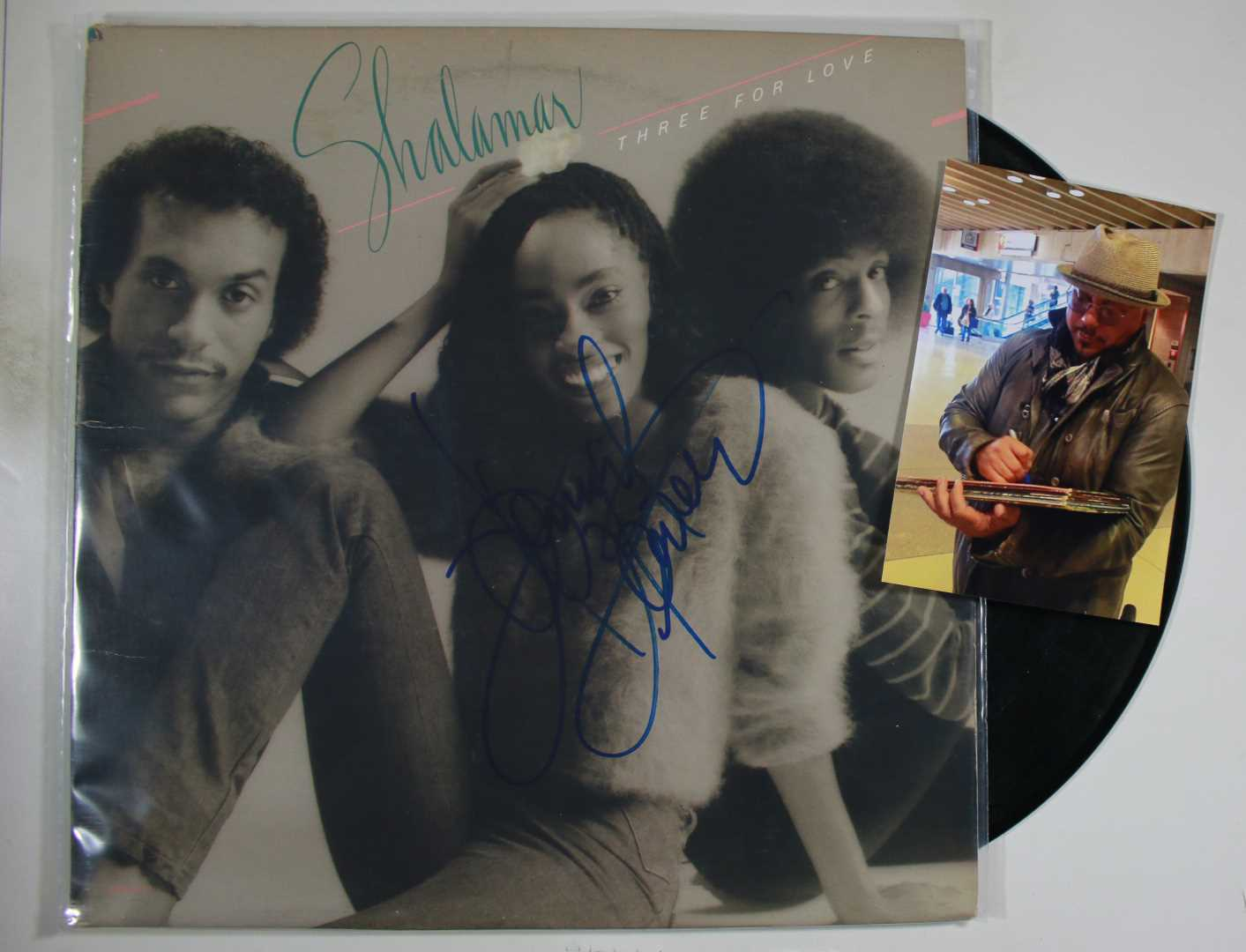 "Primary image for Howard Hewitt Signed Autographed ""Shalamar"" Record Album w/ Proof Photo"
