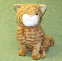 "Vintage Commonwealth TABBY CAT 14"" Orange Tan Striped Kitten Plush Stuff... - $23.38"
