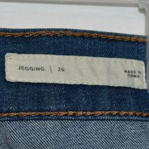 Pacsun Women's Ripped Destroyed Distressed Blue Demin Jegging Pants Size 26 image 4