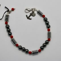 Silver Bracelet 925 With Coral And Hematite BLE-3 Made IN Italy By MASCHIA image 3