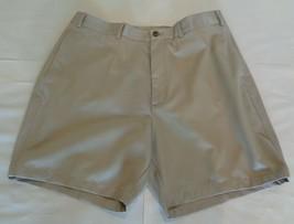 Roundtree & Yorke Size 46 ELASTIC WAIST Khaki Cotton Flat Front New Mens... - $37.25