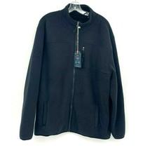 Weatherproof Vintage Faux Fur Funnel Neck Fleece Jacket Dark Navy M NEW - $37.60