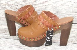 SixtySeven 67 Beth Platform Mules Studded Leather Anthropologie Shoes He... - $79.00