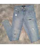 Banana Republic Light Indigo Destroyed Skinny Fit Jeans Womens Size 25 0 - $14.85