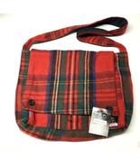 PATRICK KING Woollen Company Scottish Tartan Messenger Bag MERINO WOOL r... - $59.39