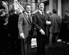 Roger Moore and Tony Curtis in The Persuaders! sharing joke on tv set 16x20 Canv - $69.99