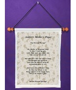 Soldier's Mother's Prayer - Personalized Wall Hanging (996-1) - $18.99