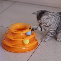 New Pet Toys Cat Crazy Ball Disk Interactive Amusement Plate Play Disc C... - $15.44