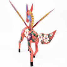 Handmade Alebrijes Oaxacan Wood Carving Painted Folk Art Pegasus Large Figure image 5