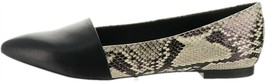 Isaac Mizrahi Leather Pointed Toe Flats Grey Snake 7M NEW A269795 - $95.02