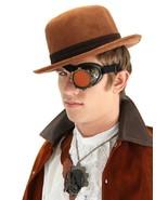 SteamPunk Cosplay Goth CyberSteam Gold/Orange Eyepatch Goggles, NEW UNWORN - $15.47