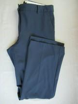 Talbots Windsor pants trousers 12 navy blue flat front straight leg inse... - $19.36