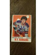 1970-71 OPC Autografato Auto Su Scheda Walter Walt Tkaczuk New York Rangers - $14.97