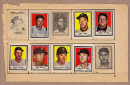 LOT OF 7: 1962 Topps stamps Pittsburgh Pirates on album page Mazeroski - $7.95