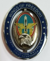 Us Army 12th Aviation Battalion Wings Of Freedom For Excellence Challenge Coin - $74.24