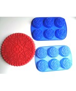 Big Top Cookie Silicone Cookie & Rose Muffin,Jello, or Ice Cream Molds - $9.89