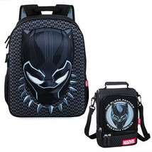 Disney Store Black Panther Backpack & Lunch Tote Box Marvel School Tote ... - $56.07